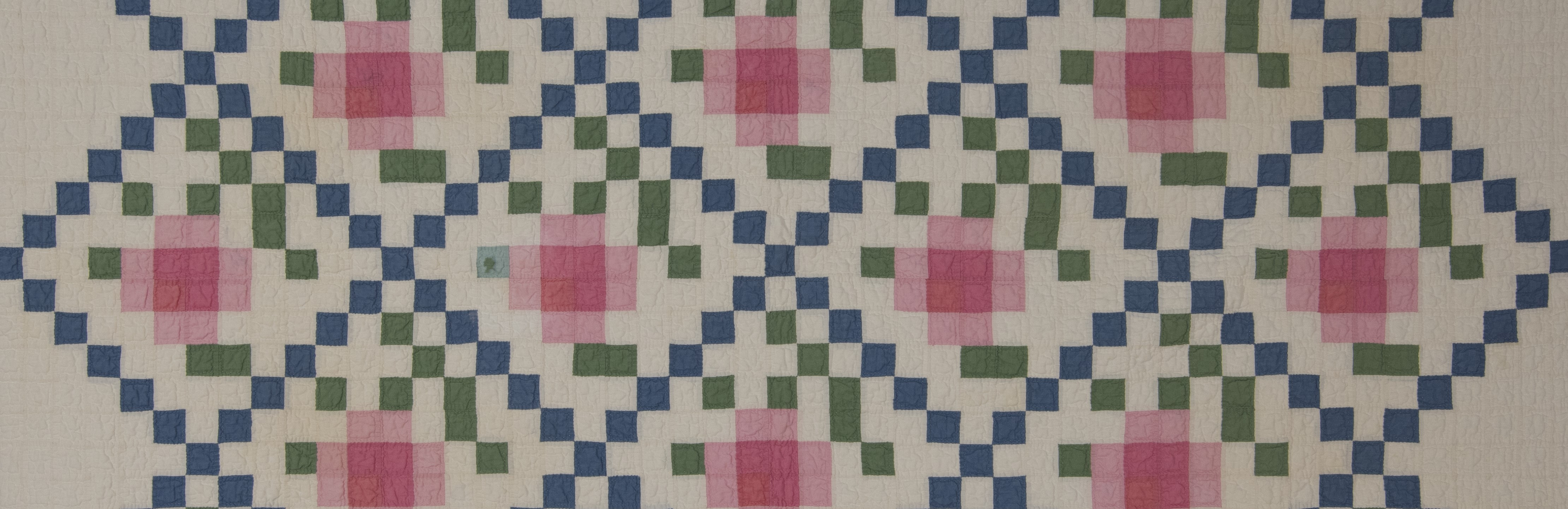 Kim J. Texas quilt blue diags